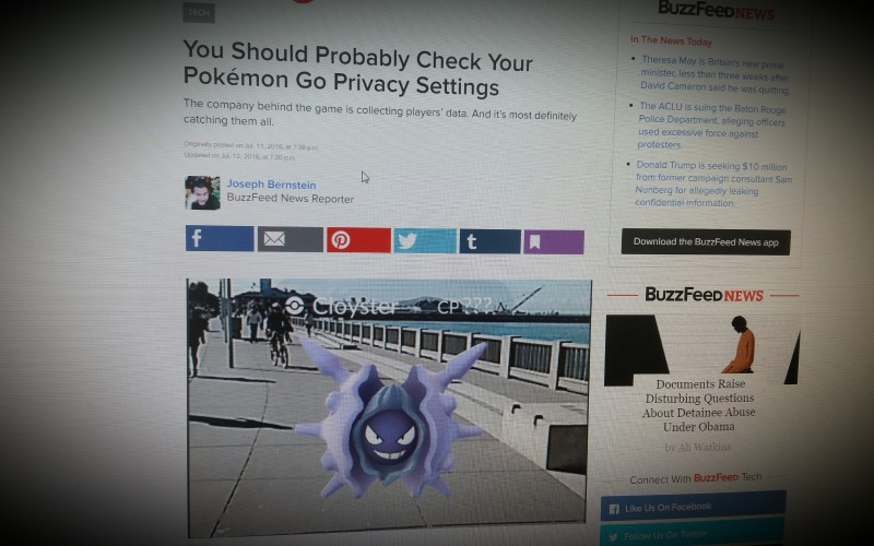 You Should Probably Check Your Pokémon Go Privacy Settings
