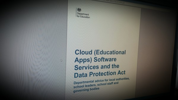 Cloud (Educational Apps) and the Data Protection. Oct 2014 Advice for local authorities & school leaders