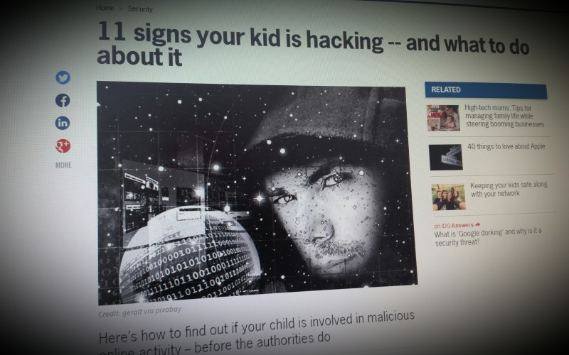 11 signs your kid is hacking -- and what to do about it