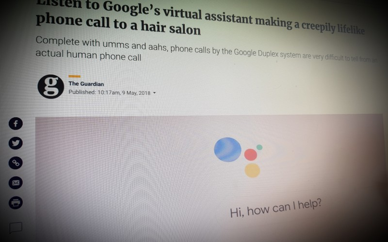 Listen to Google's virtual assistant making a creepily lifelike phone call to a hair salon
