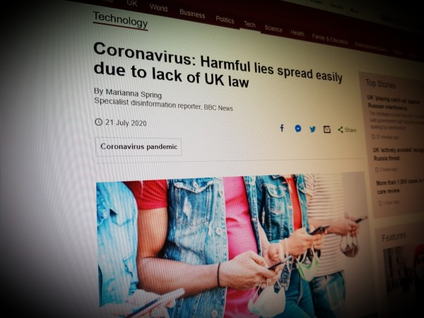 Coronavirus: Harmful lies spread easily due to lack of UK law