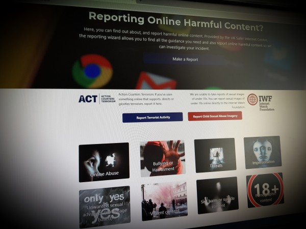 Reporting Online Harmful Content
