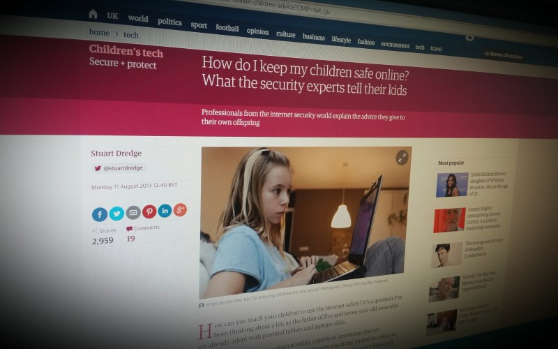 How do I keep my children safe online? What the security experts tell their kids