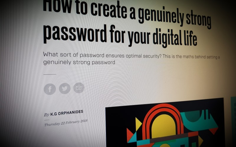 How to create a genuinely strong password for your digital life
