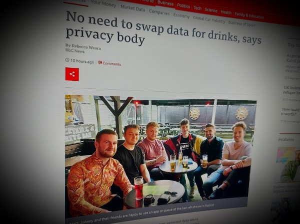 No need to swap data for drinks, says privacy body