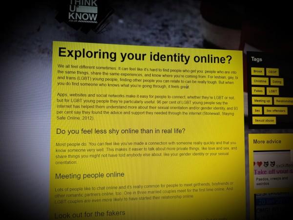 Exploring your identity online?