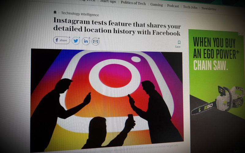 Instagram tests feature that shares your detailed location history with Facebook