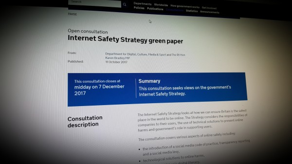 Internet Safety Strategy Green Paper