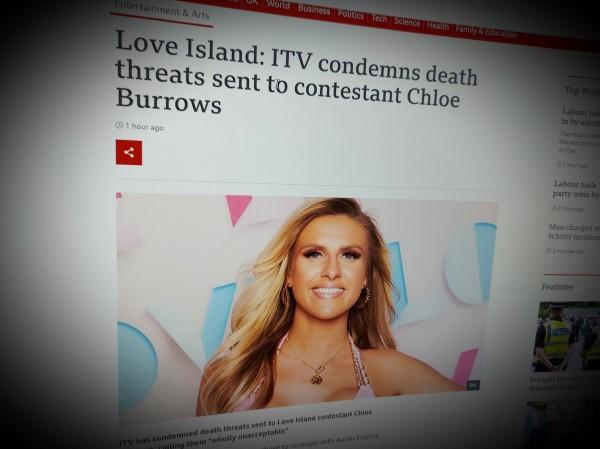 Love Island: ITV condemns death threats sent to contestant