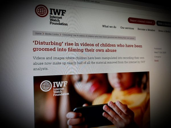 'Disturbing' rise in videos of children who have been groomed into filming their own abuse