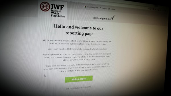 IWF Reporting page