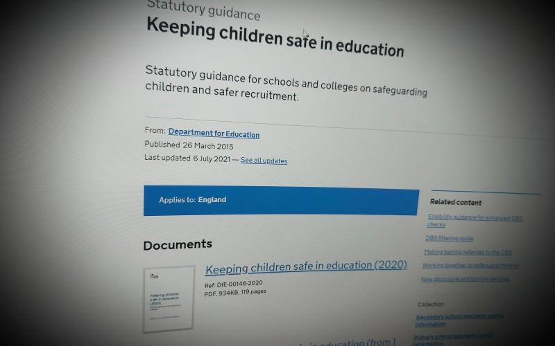 Keeping children safe in education July 21 update
