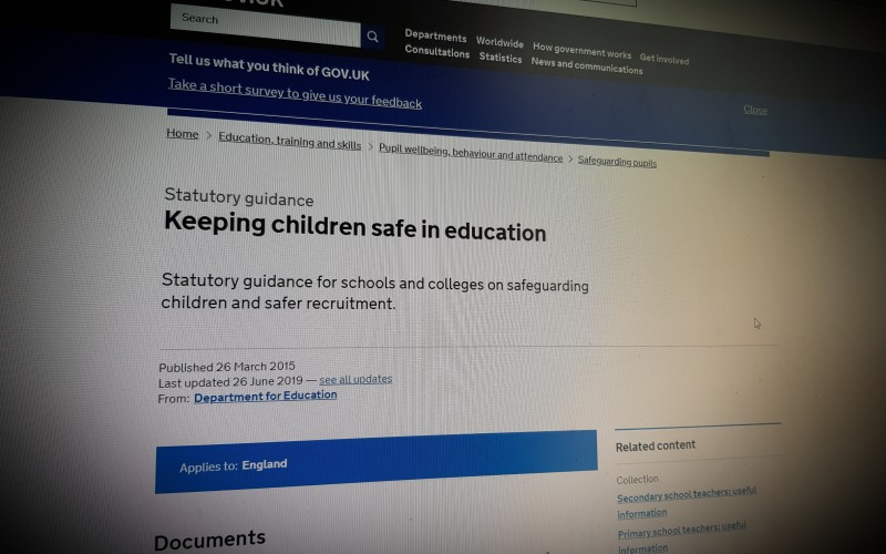 Keeping children safe in education . Update 2019