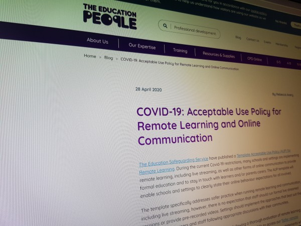 COVID-19: Acceptable Use Policy for Remote Learning and Online Communication