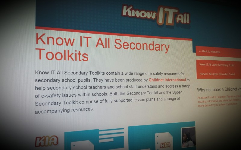 KnowITall - eSafety for Secondary Schools