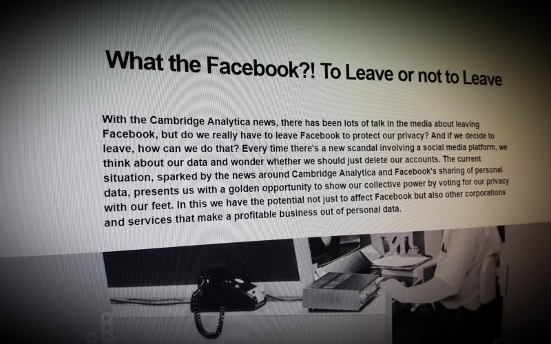 What the Facebook? To Leave or not to Leave