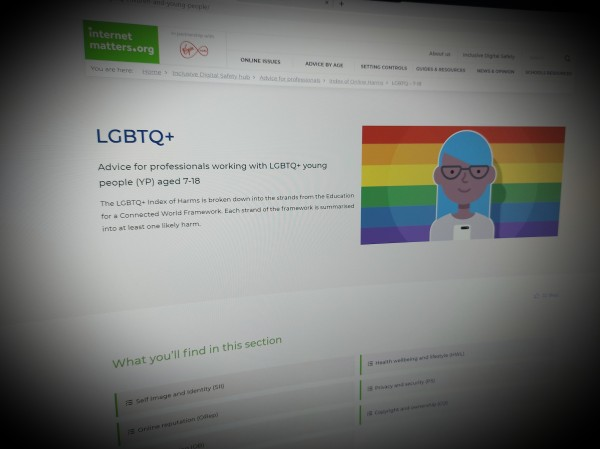 Advice for professionals working with LGBTQ+ young people