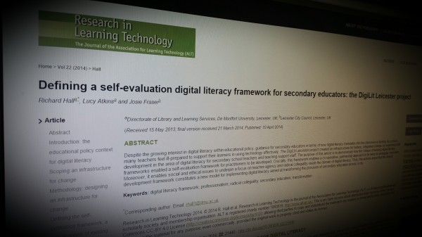 Defining a self-evaluation digital literacy framework for secondary educators: the DigiLit Leicester project