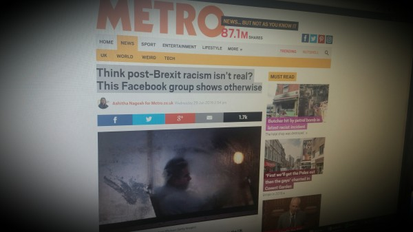 Think post-Brexit racism isn't real? This Facebook group shows otherwise