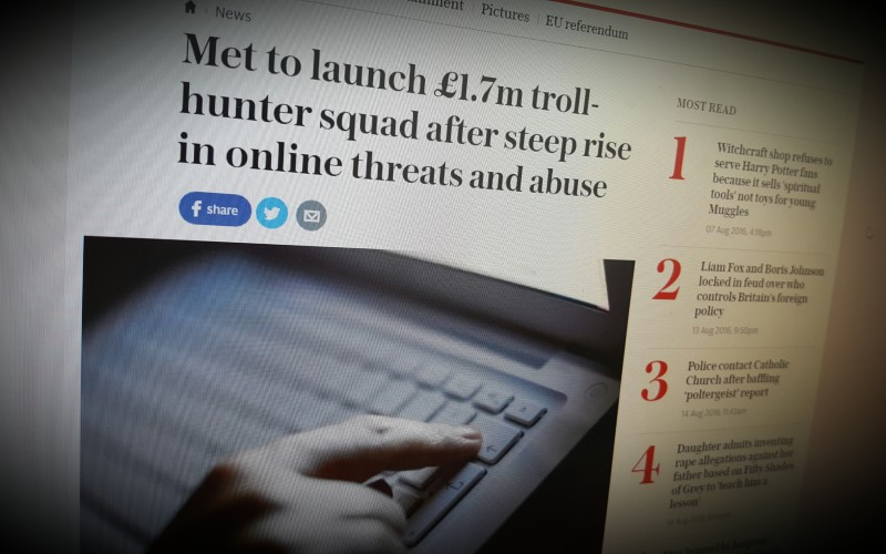 Met to launch £1.7m troll-hunter squad after steep rise in online threats and abuse