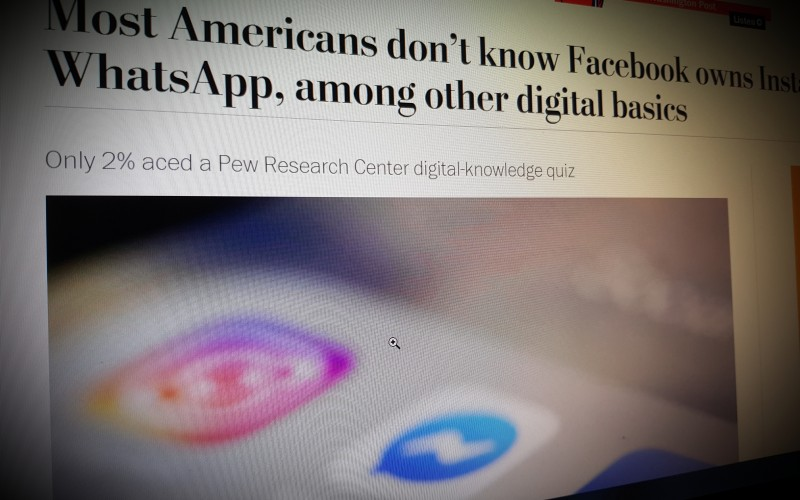 Most Americans don't know Facebook owns Instagram and WhatsApp, among other digital basics