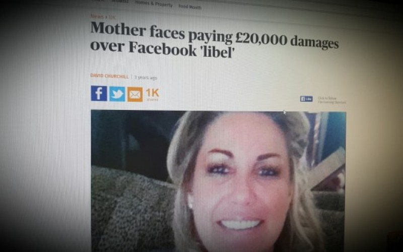 Mother faces paying £20,000 damages over Facebook 'libel'