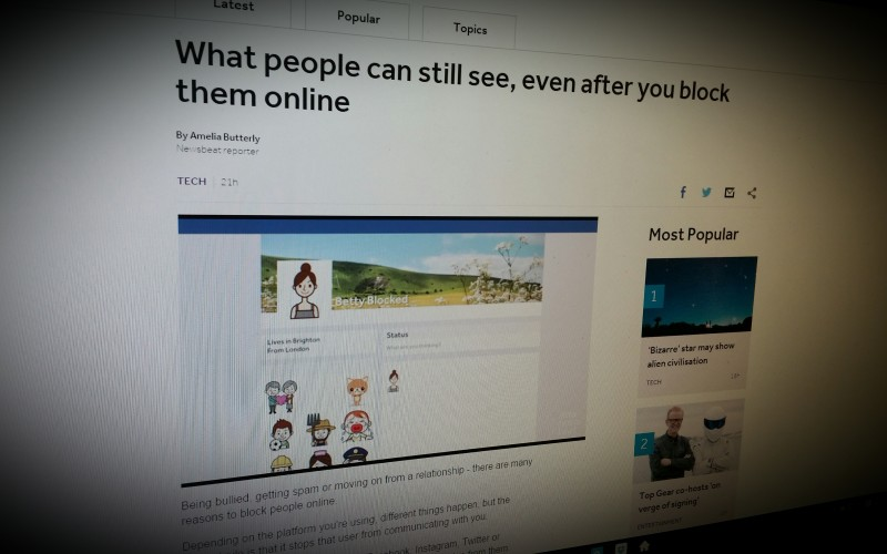 What people can still see, even after you block them online