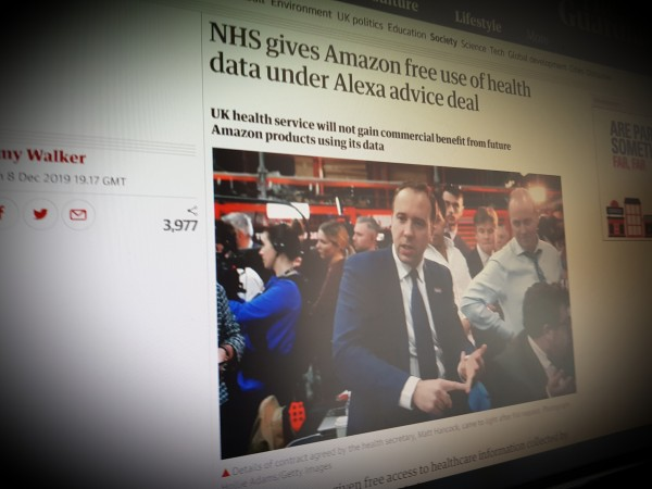NHS gives Amazon free use of health data under Alexa advice deal