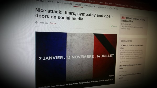 Nice attack: Tears, sympathy and open doors on social media
