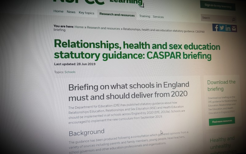 Relationships, health and sex education statutory guidance: CASPAR briefing