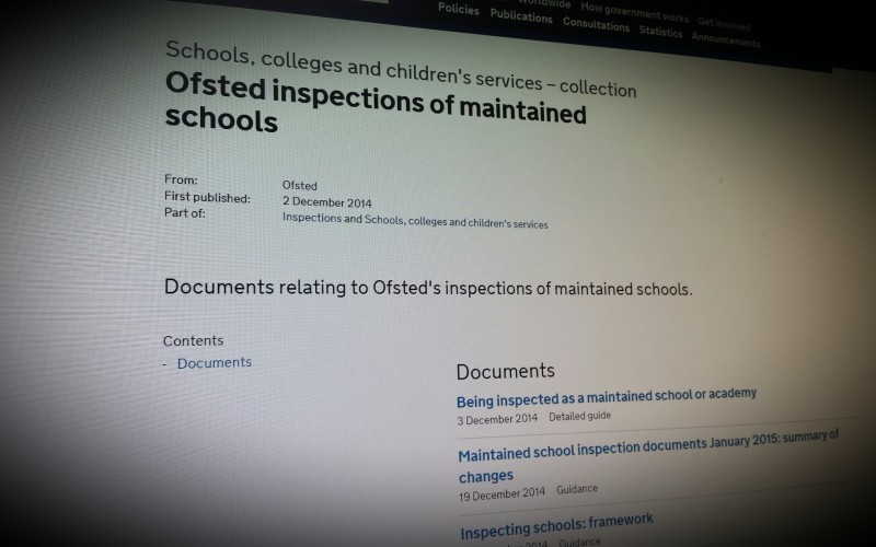 Ofsted Guidance on Inspections - eSafety