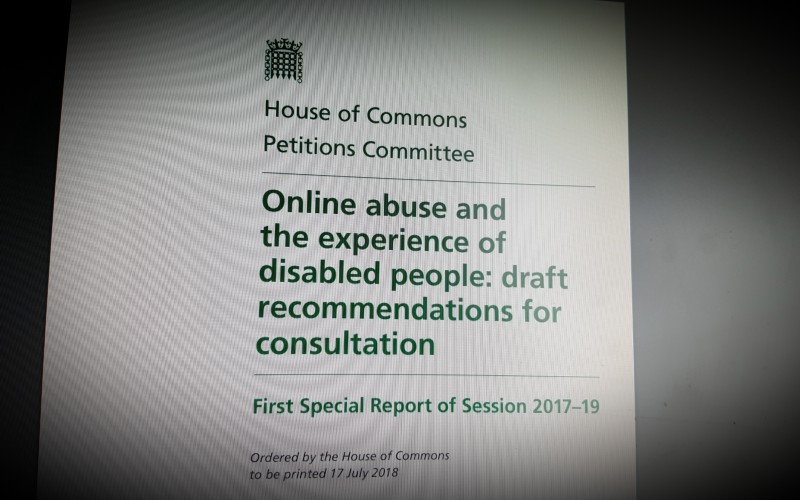 Online abuse and the experience of disabled people: draft recommendations for consultation