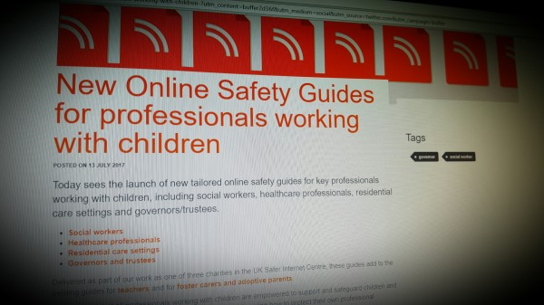 New Online Safety Guides for professionals working with children