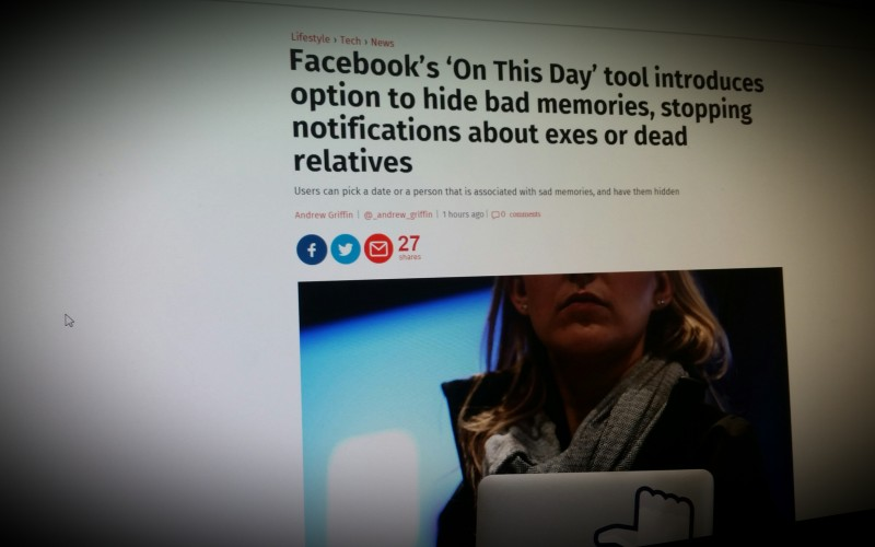 Facebook's 'On This Day' tool introduces option to hide bad memories, stopping notifications about exes or dead relatives