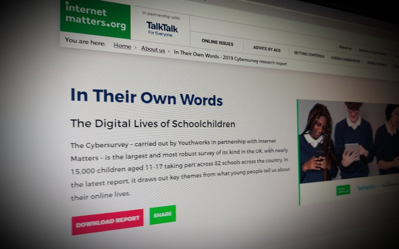 In Their Own Words The Digital Lives of Schoolchildren