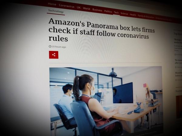 Amazon's Panorama box lets firms check if staff follow coronavirus rules