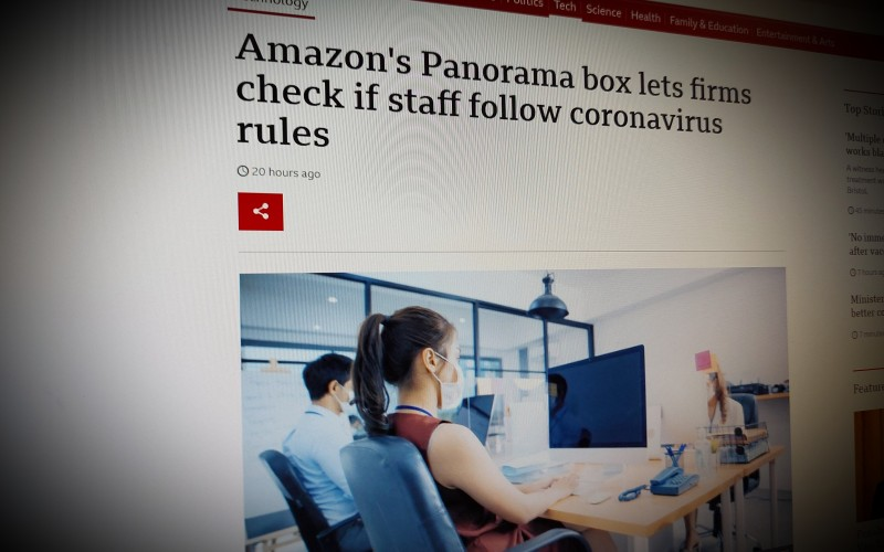 Amazon's Panorama box lets firms check if staff follow coronavirus rules