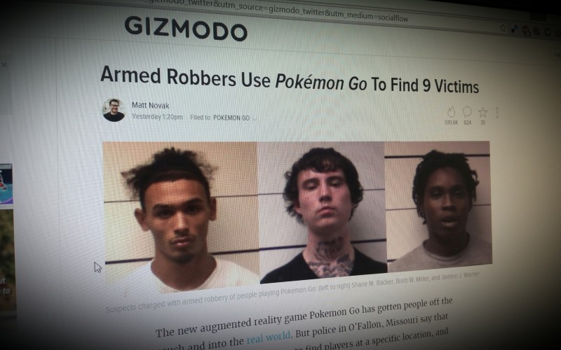 Armed Robbers Use Pokémon Go To Find 9 Victims