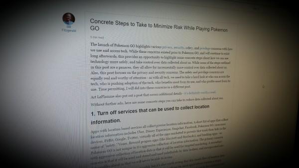 Concrete Steps to Take to Minimize Risk While Playing Pokemon GO