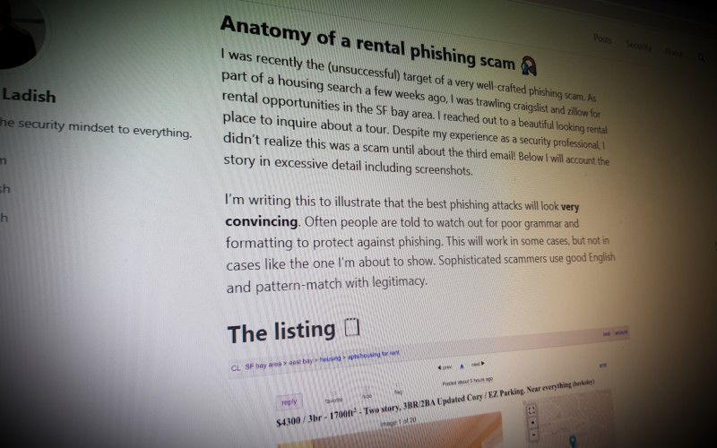 Anatomy of a rental phishing scam