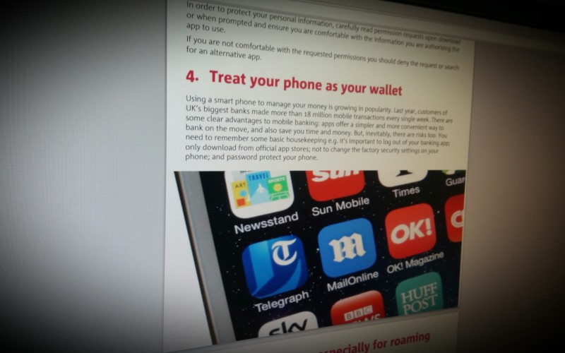 Using apps safely  and securely on  your mobile