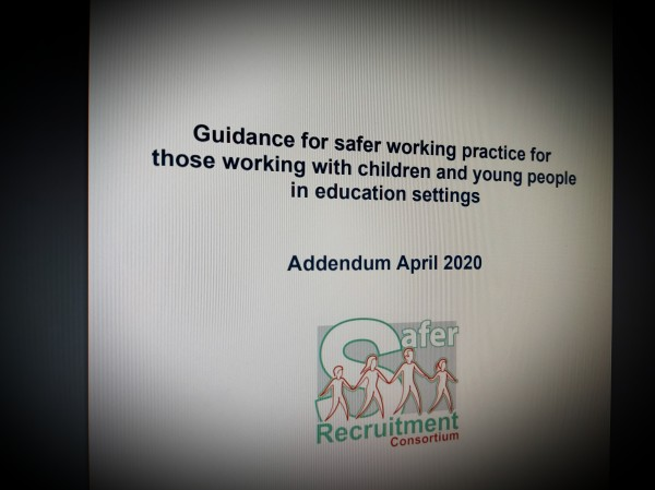 Guidance for safer working practice for those working with children and young people in education settings April 2020