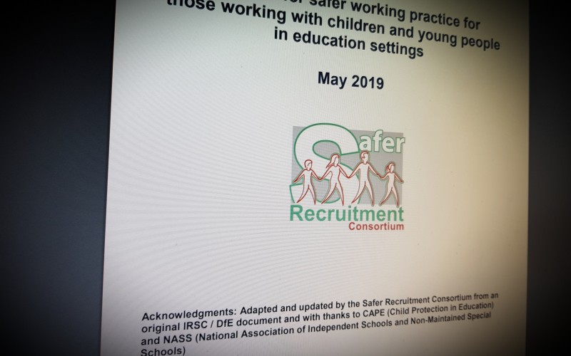 Guidance for safer working practice for those working with children and young people in education settings May 2019
