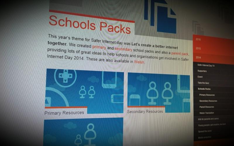 UK Safer Internet Centre Schools Packs