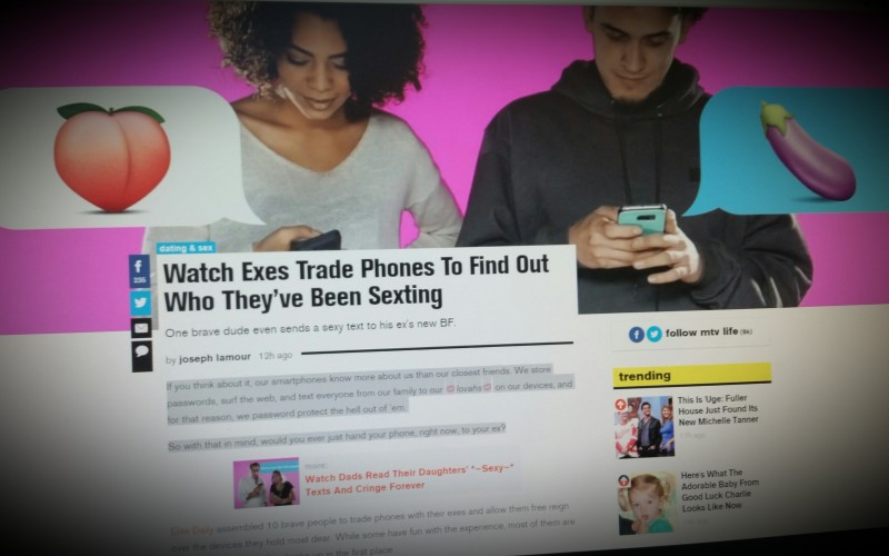 Watch exes trade phones to find out who they've been sexting