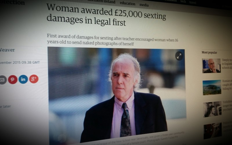 Woman awarded £25,000 sexting damages in legal first