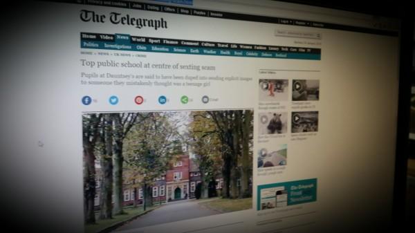 Top public school at centre of sexting scam