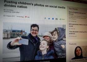 Posting children's photos on social media divides nation