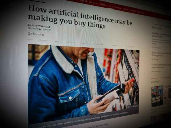 How artificial intelligence may be making you buy things