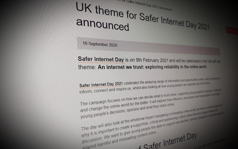 UK theme for Safer Internet Day 2021 announced